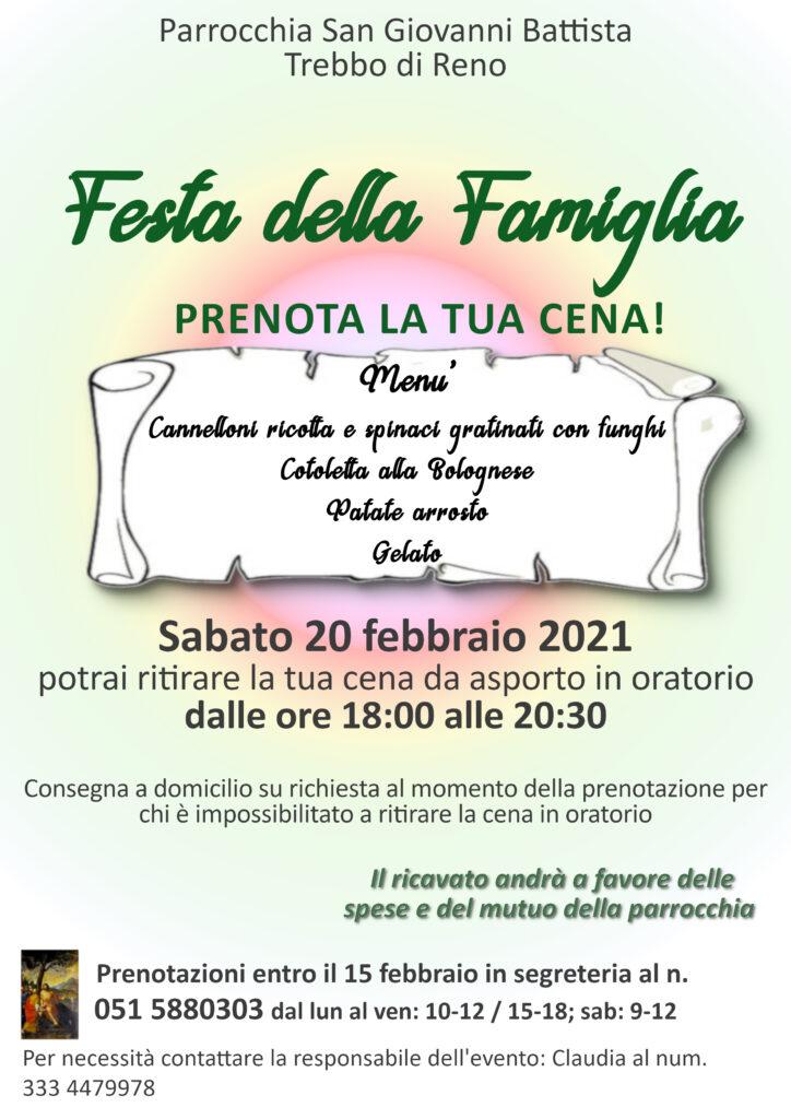 festa della famiglia 2021 parrocchia trebbo